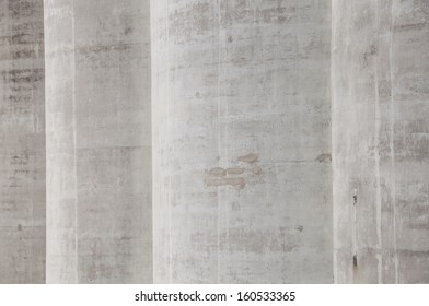 detail of the cement silos