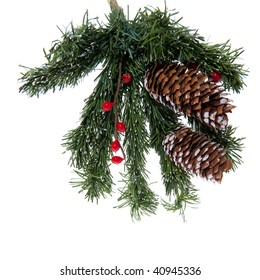 Detail of a christmas tree with pine apples