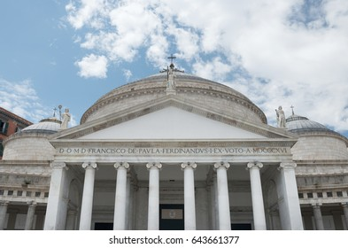 Detail of Church S. Francis of Paola  Basilica in Naples - Italy