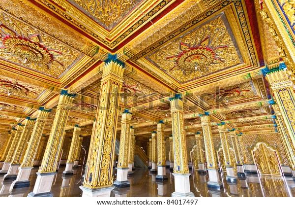 Detail of Church at  Tha Sung Temple,Uthaithani, Thailand