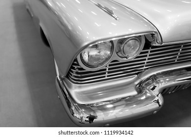 Detail of classic american car