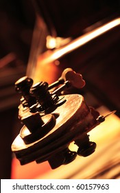 Detail of a classical cello