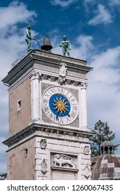 Detail of the Clock Tower of Udine, Friuli Venezia Giulia, Italy