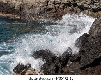 detail of the coast of the island of Pantelleria, Italy