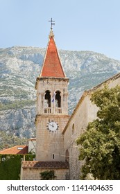 Detail of the co-cathedral of St. Mark Makarska, Croatia