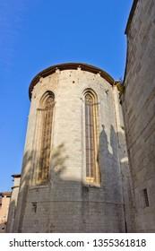 Detail of Collegiate Church of Sant Feliu in Girona, Catalonia, Spain