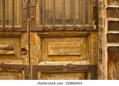 Detail of Colonial Door in Guanajuato, Mexico