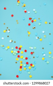 detail of colorful confetti background