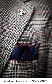 Detail of colorful pocket square