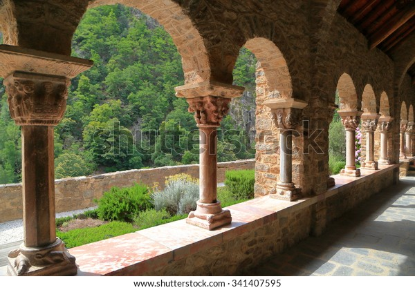 Detail Columns Arches Decorating Cloister St Stock Image ...