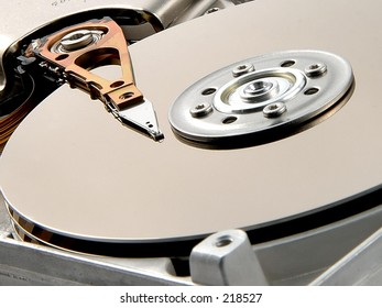 Detail of a computer hard drive