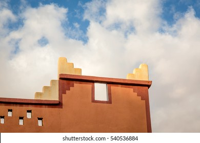 Detail contemporary Moroccan architecture in area Gorges du Dades
