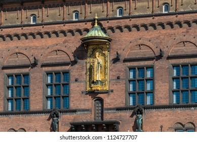 Detail of Copenhagen City Hall, Denmark