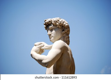 Detail of the copy of Michelangelo's David
