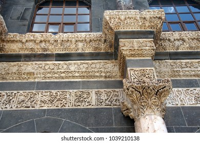 Detail of the Corinthian columns of the courtyard of the Ulu Cami  in  Diyarbakir, Turkey