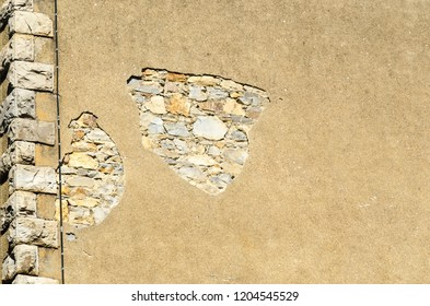 Detail of a cracked wall in need of maintenance