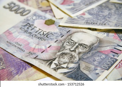 Detail of the czech banknote