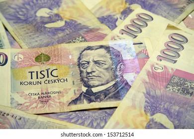 Detail of the czech money
