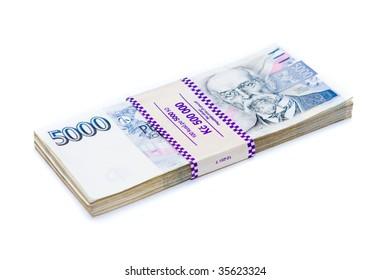 Detail of czech money - the czech currency