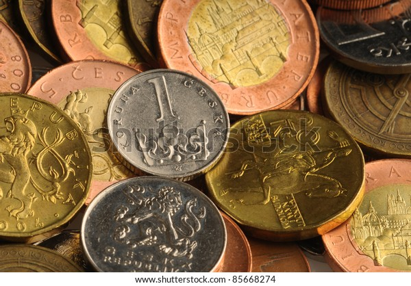 Detail of Czech Republic currency