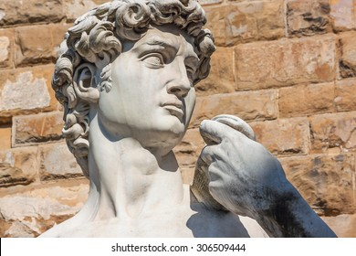 Detail of the David sculpture in Florence - Italy