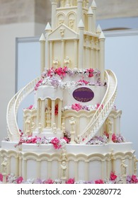Detail of delicious wedding cake