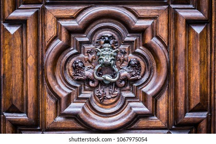 Detail of the Devil Door in Turin, Italy. Located in Via Vittorio Alfieri, dated around 1850.
