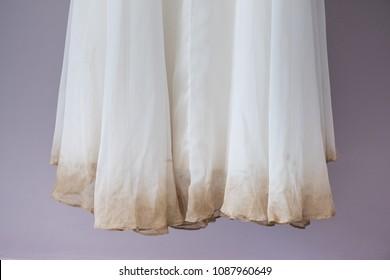 Detail of dirty bride dress