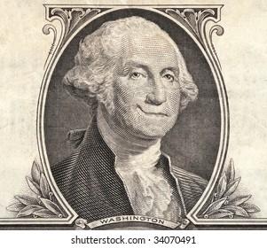 detail of a dollar bill