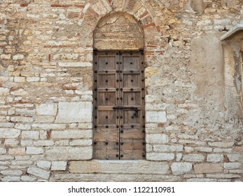 Detail of a door, Pieve di San Giorgio di Valpolicella fraction of the municipality of Sant'Ambrogio di Valpolicella, in the province of Verona. italy