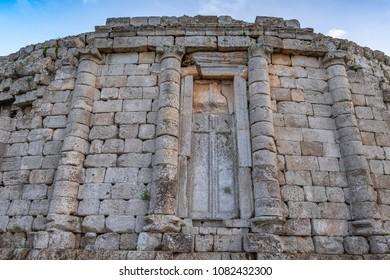 Detail with door in tomb  of Juba II and Cleopatra Selene II near Tipasa (Tipaza), Algeria