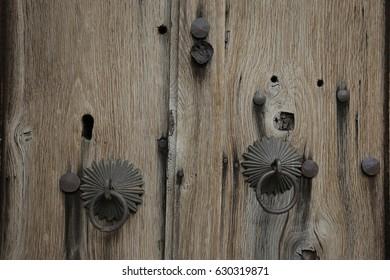 Detail of doorknob in the village of Kovachevitsa, Bulgaria