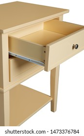 The detail drawer of the yellow nightstand.