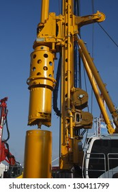 Detail of a drilling machine for oil industry