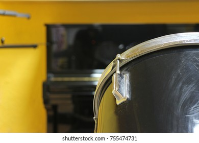 Detail of a drum closeup