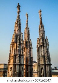 Detail of Duomo Cathedral in Milan, Italy