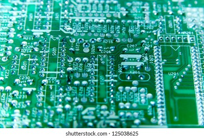 Detail of a electrical circuit board.