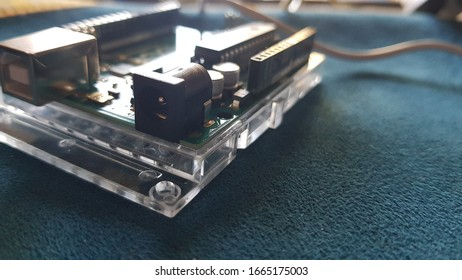 Detail of a electronic board