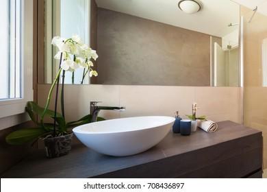 Detail of elegant washbasin.