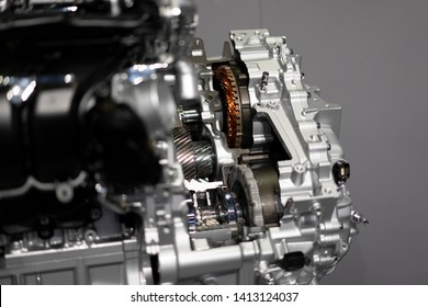 detail of engine in the car