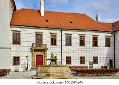 Detail exterior of the Castle Trebic, UNESCO site