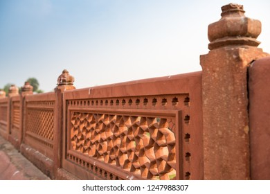 Detail of the exterior of Humayun's Tomb, New Delhi, India