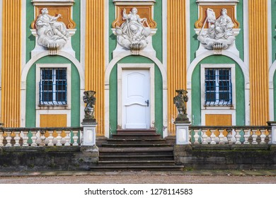 Detail of a facade of a building of the castle of Bruchsal/Germany