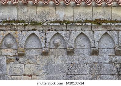 Detail of the facade of the Church Nostra Signora di Cabu Abbas, Torralba