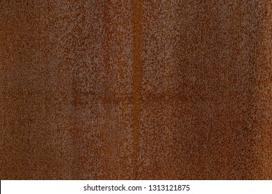 Detail facade of rusted Corten steel with different patterns, textures and structures