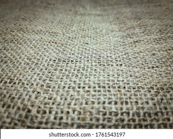 detail of fiber in the texture of the burlap or (kain goni)