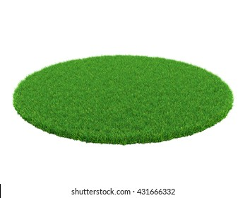 Detail of a field of green grass. Grass arena isolated on white background. High resolution 3d illustration