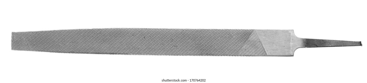 Detail of a file isolated on white
