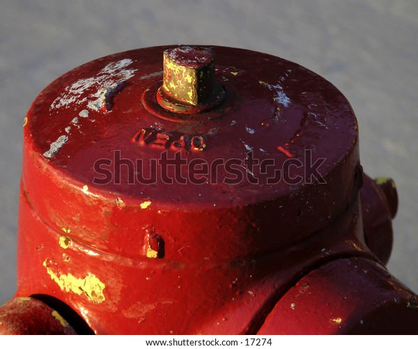 Detail of a fire hydrant.