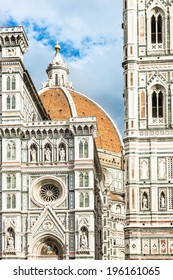 Detail of Firenze Duomo, Italy.